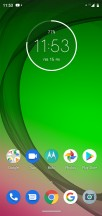 Home screen - Motorola Moto G7 Play review
