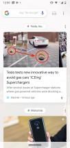 Google feed - Motorola Moto G7 Power review
