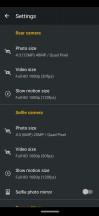 Camera settings - Motorola Moto Z4 review
