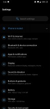 General settings menu - Oneplus 7 review
