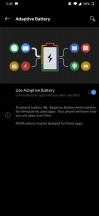 Battery settings menu - Oneplus 7 review