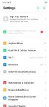 General settings menu and home screen settings - Realme X2 review