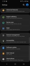 Settings menu - Samsung Galaxy A40 review