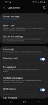 Biometrics menu - Samsung Galaxy A40 review