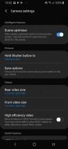Camera menus - Samsung Galaxy A40 review