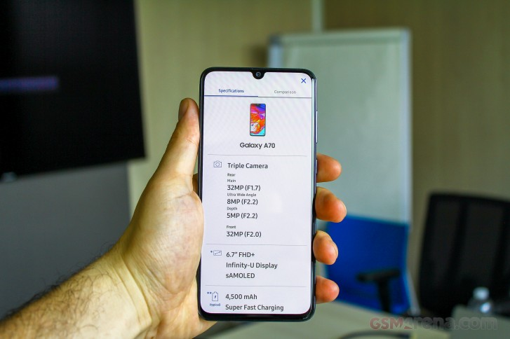 Samsung Galaxy A80 A70 Handson review