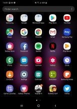App drawer (tablet) - Samsung Galaxy Fold review