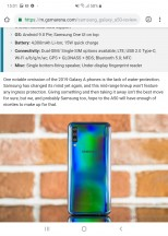 Web browser - Samsung Galaxy Fold review