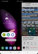 The pop-up apps floating bar - Samsung Galaxy Fold review
