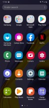 Home screen, notification shade, app drawer and recent apps menu - Samsung Galaxy M30s review