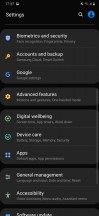 General settings menu, always-on and FaceWidgets - Samsung Galaxy M30s review