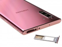 Card slot up top - Samsung Galaxy Note10 review