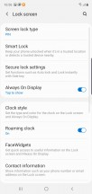 Lock screen options - Samsung Galaxy Note10 review