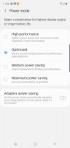 Battery menu and features - Samsung Galaxy Note10 review