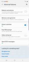 Advanced features menu - Samsung Galaxy Note10 review
