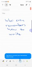 Handwriting recognition - Samsung Galaxy Note10 review