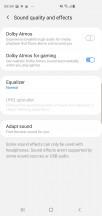 Galaxy S10+ software: Sound settings - Samsung Galaxy S10+ vs. Sony Xperia 1