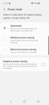 Battery settings - Samsung Galaxy S10e review