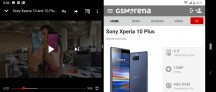 and in landscape - Sony Xperia 10 Plus review