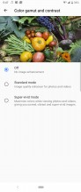 Display color settings - Sony Xperia 10 Plus review