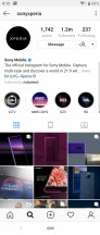 Instagram (0.5 extra row) - Sony Xperia 10 review