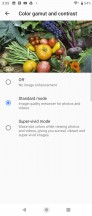 Display color settings - Sony Xperia 10 review