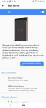 Side sense • Side sense options • Side sense menu • 21: 9 multi-window - Sony Xperia 5 review