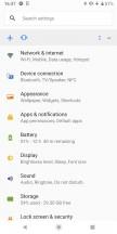Settings menu - Sony Xperia XZ3 long-term review