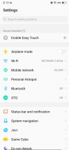 Settings menu and recent apps menu - Vivo V15 Pro Hands On review