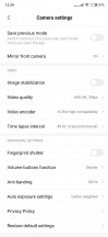 Video settings - Xiaomi Mi Mix 3 review