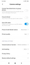App settings - Xiaomi Mi Note 10 hands-on review