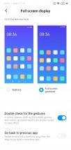 Navigation gesture settings - Xiaomi Redmi 8a review