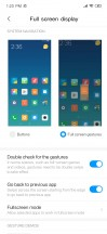 Full screen menu and options - Xiaomi Redmi Note 7 review