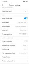 Camera menu options - Xiaomi Redmi Note 7 review