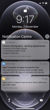 Notification Center - Apple iPhone 12 Pro review