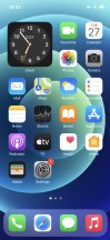Homescreen - Apple iPhone 12 review