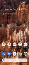 Home screen - Google Pixel 5 review