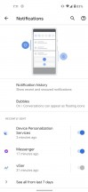 Notification history - Google Pixel 5 review
