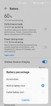 Battery settings - Huawei Mate 40 Pro review