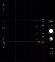 Unfolded camera UI - Huawei Mate Xs review