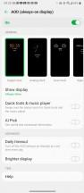 AOD settings - LG Velvet review