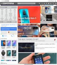 Chrome in Wide View - LG Velvet review