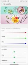 Display color settings - LG Velvet review