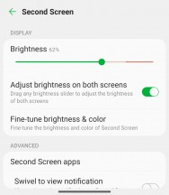 Secondary display settings - LG Wing 5G review