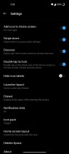 Additional settings and features for the home screen = - OnePlus 8 review