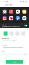 Icon settings - Oppo Reno4 Pro review