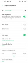 Display settings - Oppo Reno4 Pro review