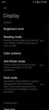 Display settings - Poco F2 Pro long-term review
