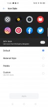Customizing system and icons - Realme 6 review
