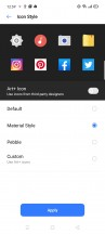 Customizing system and icons - Realme 6i review